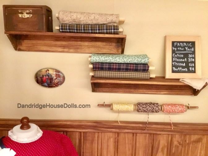 The fabric shelves