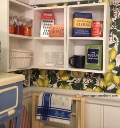 Open shelves for storage.