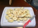 Cut potatoes into chunks.