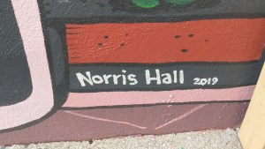 Norris Hall artist signature