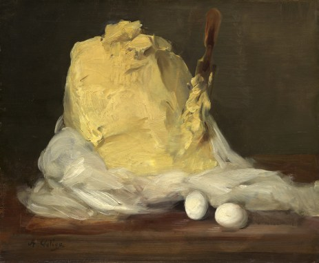 Antoine Vollon (French, 1833 - 1900 ), Mound of Butter, 1875/1885, oil on canvas, Chester Dale Fund