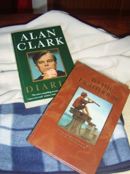 Alan Clark Diaries and To the Lighthouse by Virginia Woolf - I've just finished with Alan and am now on to Virginia.