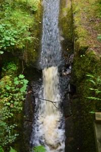 Fast flowing water.