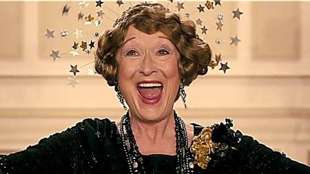 Meryl Streep as Florence Foster Jenkins.