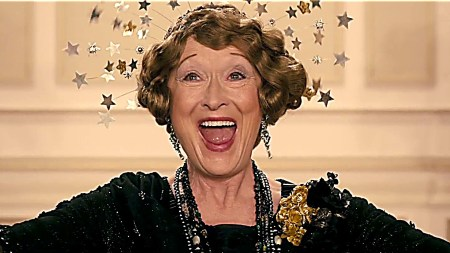 Meryl Streep as Florence Foster Jenkins.