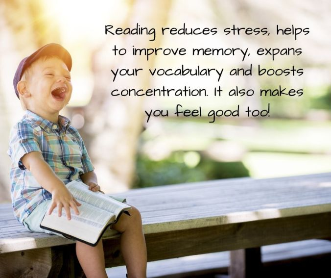 Reading reduces stres.