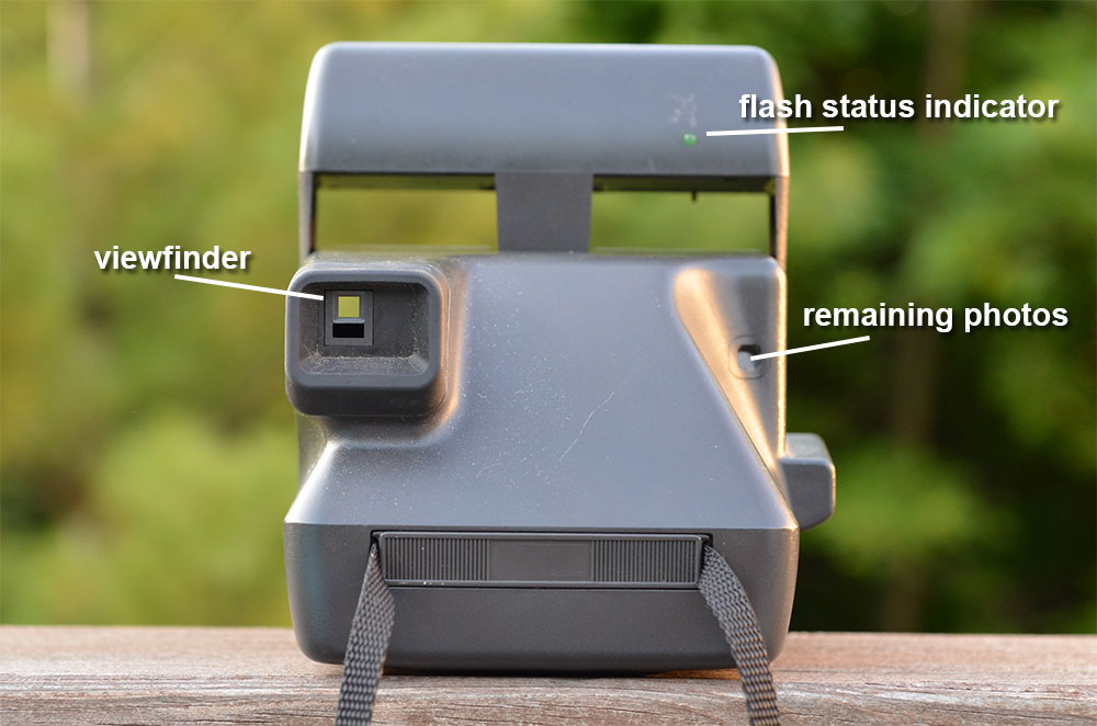 Back of the Polaroid OneStep Closeup