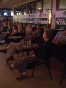 The crowd at the Laugh till You're Green comedy fundraiser for Sharon Howarth