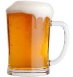 A foamy glass of beer