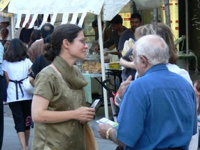 Toronto-Danforth candidate Adriana Mugnatto-Hamu on Gerrard Street East
