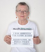 Patricia Warwick mugshot for Tar Sands Action