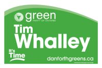 Lawn sign for Toronto-Danforth candidate