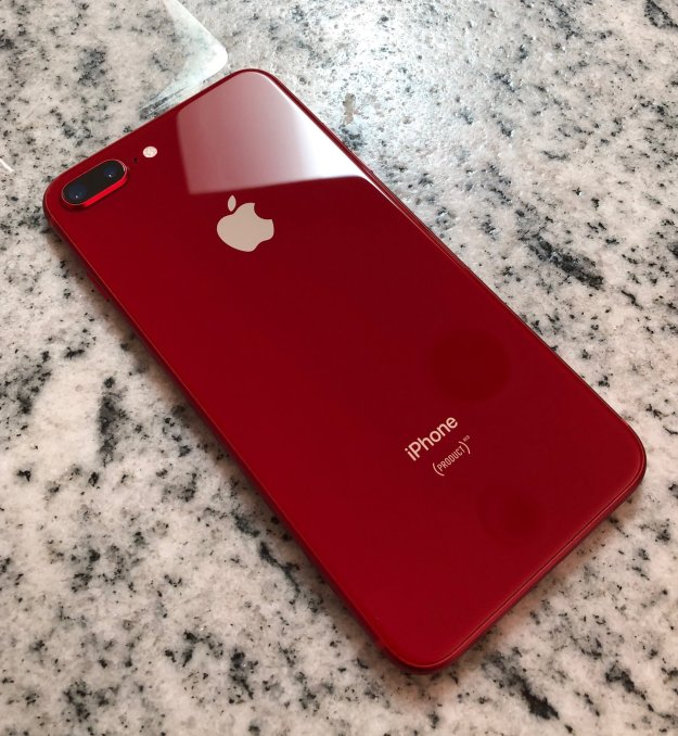 The iPhone 8 Plus in (PRODUCT)RED  Photo: Dan Frakes