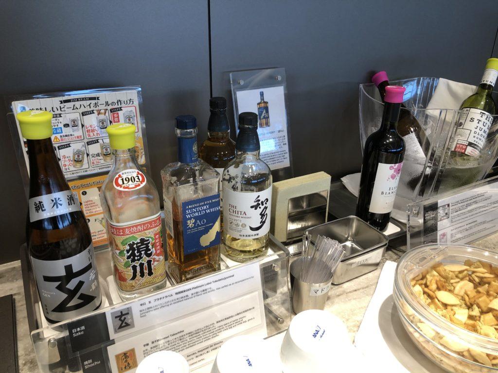 伊丹空港 ANA SUITE LOUNGEにある酒類