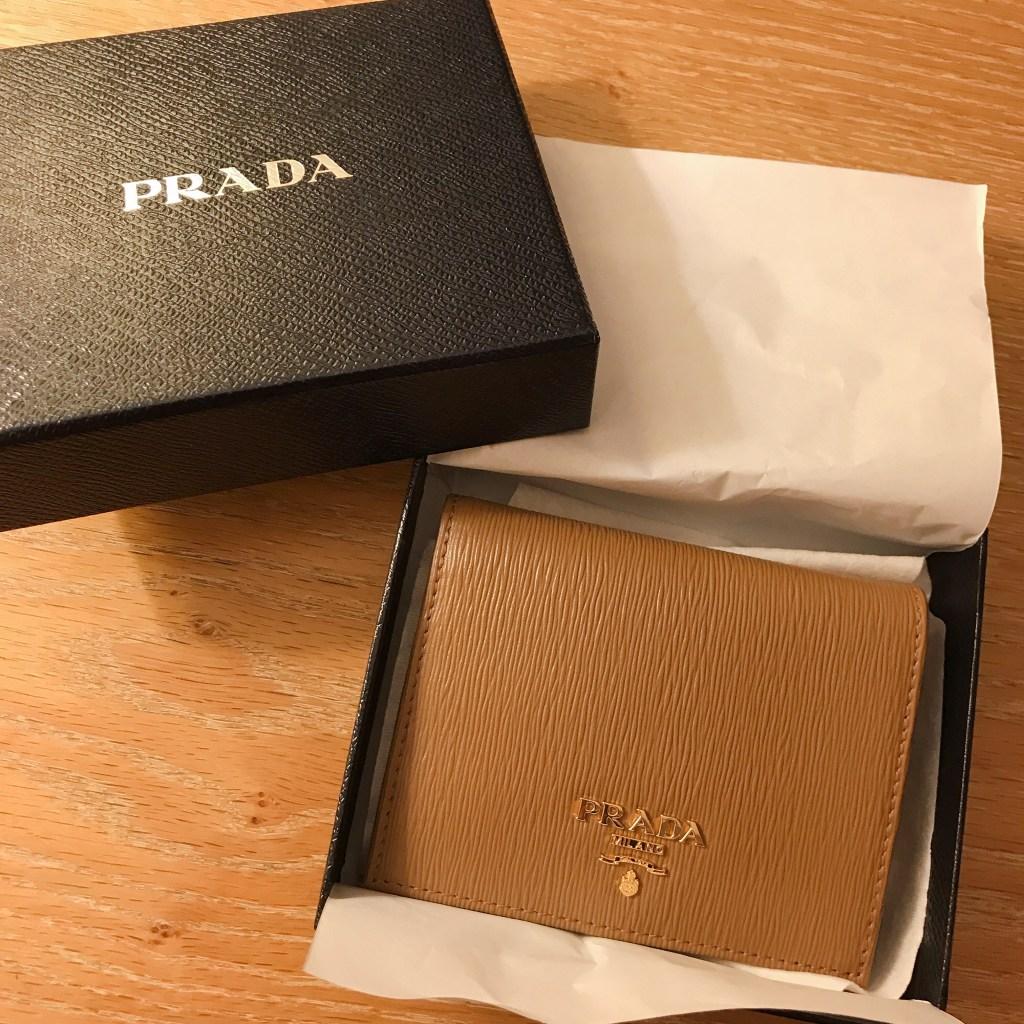 イタリア ミラノ アウトレット 戦利品(1) PRADAの二つ折り財布 135ユーロ