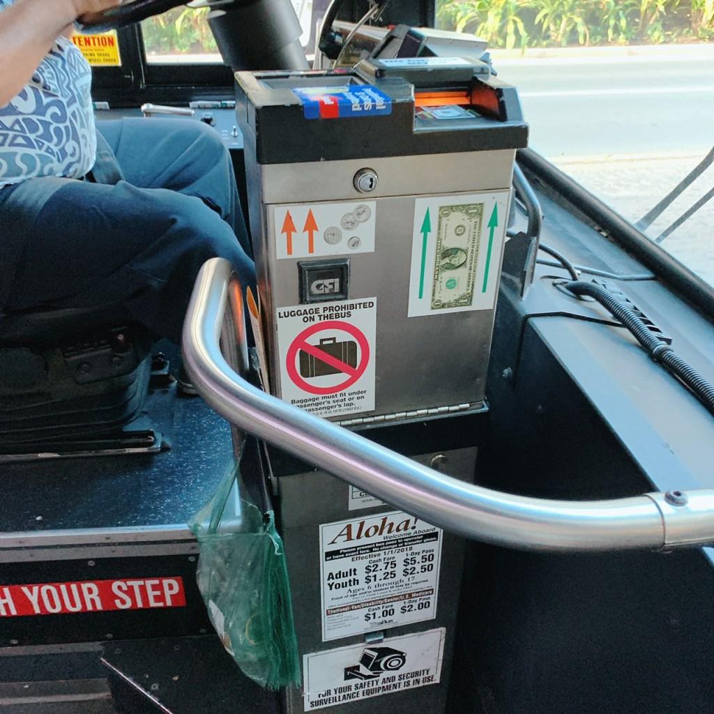 ザ・バス車内にある絵現金投入機