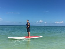 Paddle boarding off Marco Island.