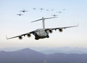 Boeing C-17. We are buying these instead of food for children, even though we don't need them. We are buying them to help out the struggling Boeing Corporation.