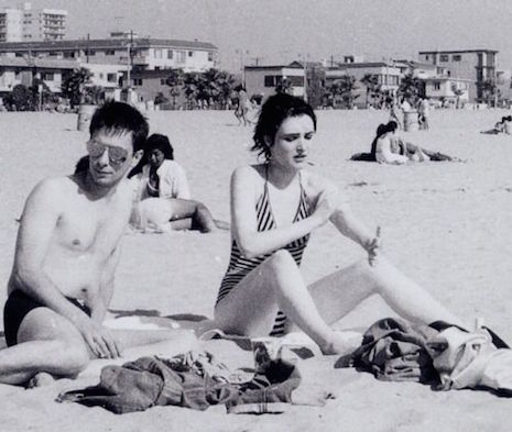 Siouxsie Sioux at the beach