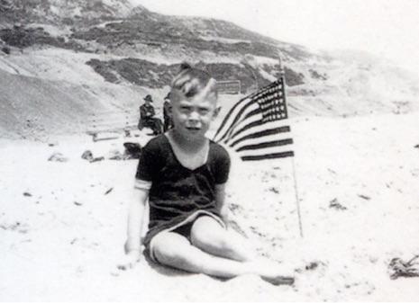 Baby Charles Bukowski on the beach 1920's
