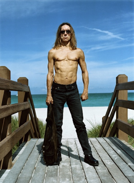 Iggy Pop at the beach, 2000