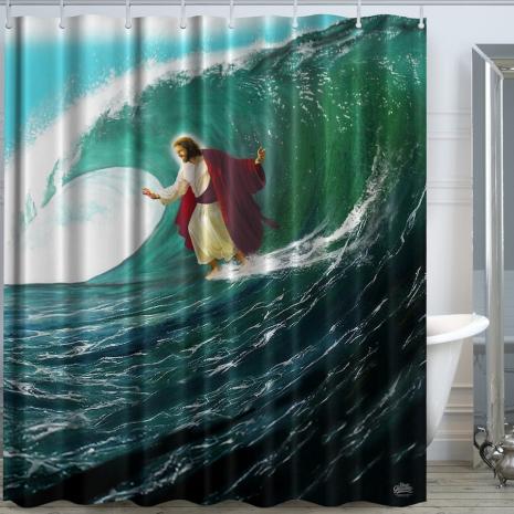 designer shower curtains as satan