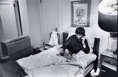 George Harrison at The Plaza Hotel in NY. 1964