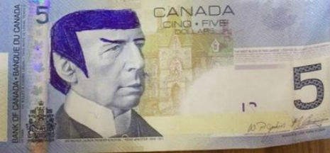 spocjsdfsdfsdfsdf 465 216 int - 'Star Trek' fans told to stop 'Spocking' Canadian $5 bill | Toronto Sun