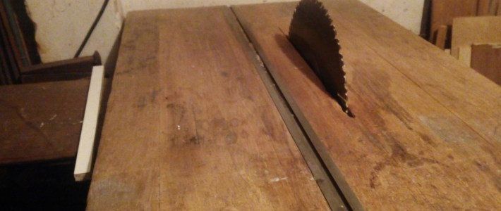 vintage home made circular saw