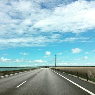 Straße nach Muhu