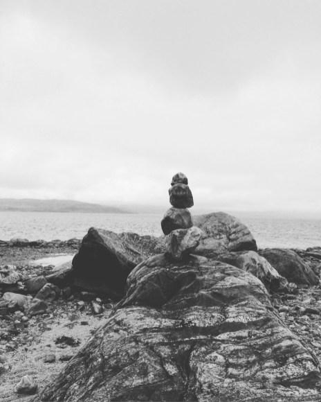 Blick zum Fjord