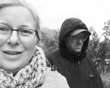 Wir zwei im Regen