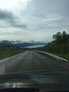 Blick auf Fjord