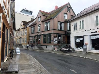 Straße in Tromsö (Norwegen)