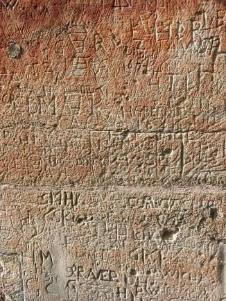 Heilges Grab (ganz alte Graffitis)