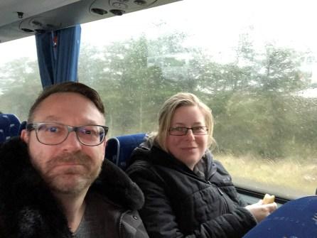 stürmische Busfahrt