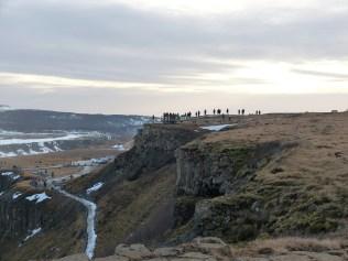 Landschaft am Gullfoss