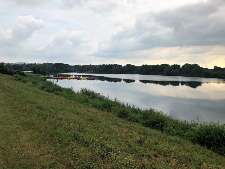 Kühlendes Bad in der Weser