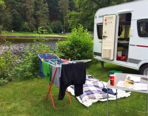 Wäsche waschen im Pfälzer Wald