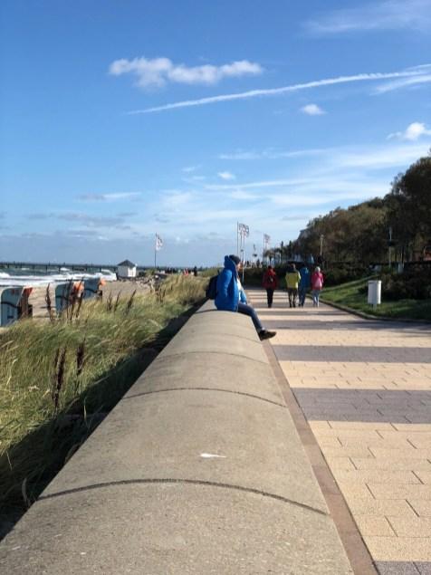 Ausruhen auf der Promenade