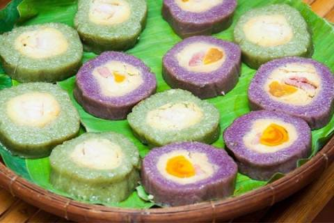 Tổng hợp tất cả đặc sản Long An: Bánh tét Long An - VietFlavour.com