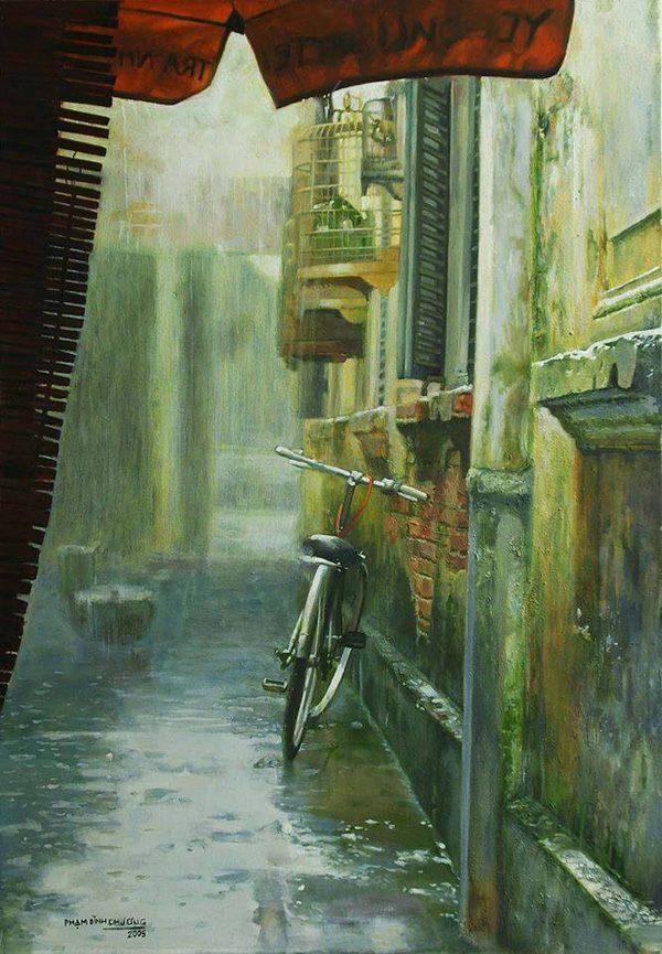 Những góc phố Hà Nội qua tranh của Phạm Bình Chương