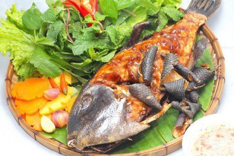 Đặc sản Phú Yên - cá bốp nướng