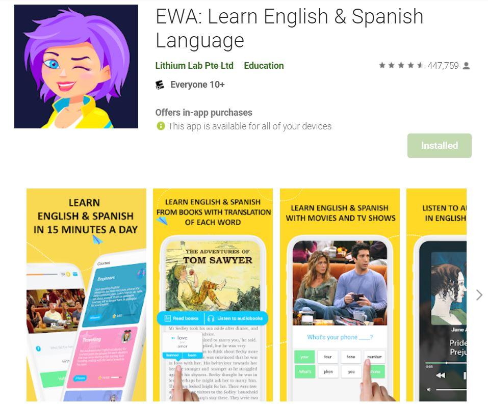 ứng dụng ewa