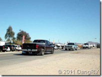 Quartzsite RV Show Traffic
