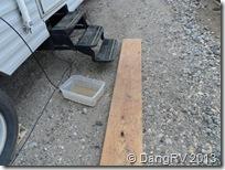 Mud board and boot wash