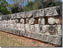 Chichen Itza Wall of Skulls