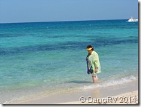 The wonderful Cozumel beach and water