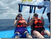 Bernie and Katrina fooling around in Cozumel