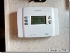 New digital thermostat in RV